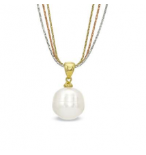 Honora 12.0 - 13.0mm Cultured Freshwater Pearl Pendant in Sterling Silver and 18K Gold Plate Zales