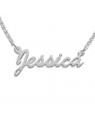 Script Name Necklace in Sterli..