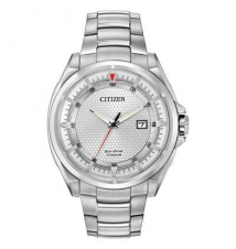 Men's Exclusive Citizen Eco-Drive Titanium Watch with Silver Dial (Model: AW1400-87A) Zales