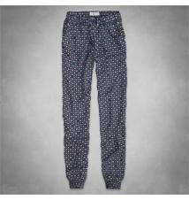 Olivia Pattern Drapey Pants Abercrombie & Fitch