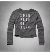 sparkle & glitter sweatshirt Abercrombie Kids