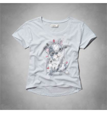 cute dog shine graphic tee Abercrombie Kids