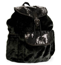 Kids' Faux Fur Sequin Backpack Aeropostale