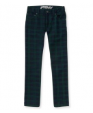 Kids' Plaid Print Skinny Jean ..