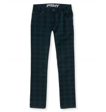 Kids' Plaid Print Skinny Jean (Regular) Aeropostale