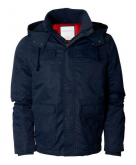 Solid Hooded All-Weather Jacke..