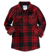 Kids' Plaid Woven Shirt Jacket Aeropostale