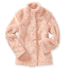 Kids' Faux Fur Snap Coat Aeropostale