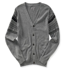 Fair Isle Accent Cardigan Aeropostale