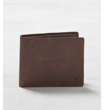 AEO Leather Bifold Wallet American Eagle