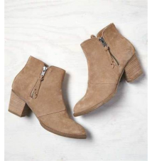 AEO Double Zip Suede Bootie American Eagle