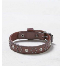 AEO Rhinestone Leather Cuff American Eagle