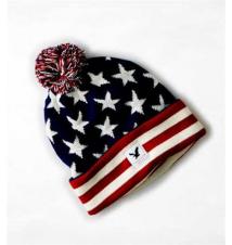 AEO Flag Pom Pom Beanie American Eagle