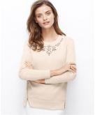 Jeweled Side Zip Sweatshirt An..