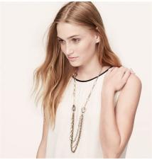 Long Eclectic Filigree Charm Necklace Ann Taylor Loft
