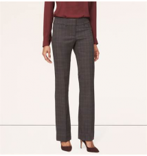Plaid Trouser Leg Pants in Julie Fit Ann Taylor Loft