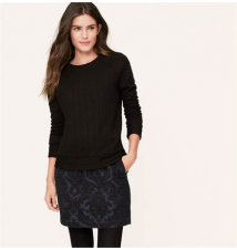Jacquard Shift Skirt Ann Taylor Loft