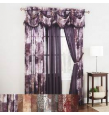 Madagascar Jacquard Sheer Window Curtain Anna's Linens