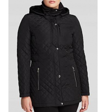 Calvin Klein Coat - Hooded Quilted Bloomingdale's