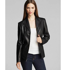 Cole Haan Wing Collar Leather Jacket Bloomingdale's