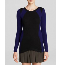 C by Bloomingdale's Geo Color Block Cashmere Sweater Bloomingdale's