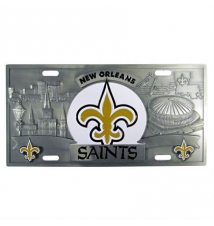 3D License Plate–New Orleans Saints Brookstone
