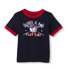father/son baseball graphic tee Children's Place