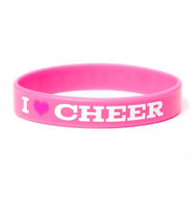 I Love Cheer Rubber Bracelet Claires