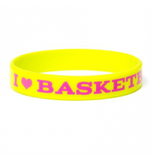 I Love Basketball Rubber Bracelet Claires