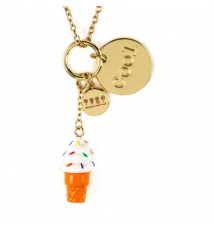 Dylan's Candy Bar Ice Cream Cone and Cool Coin Charms Pendant Necklace Claires