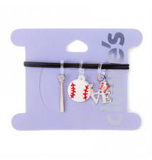 Baseball Rubber Band Charms Set of 3 Claires