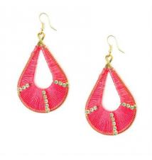 Neon Pink Teardrop Dream Catcher Drop Earrings Claires