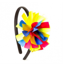 Rainbow Ribbon Pom Pom Headband Claires