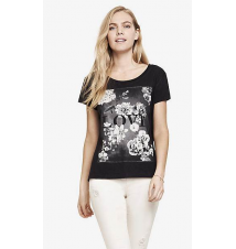 BOXY GRAPHIC TEE - LOVE IN BLOOM Express