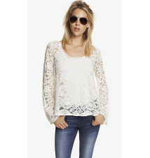 BELL SLEEVE LACE TRAPEZE TOP Express