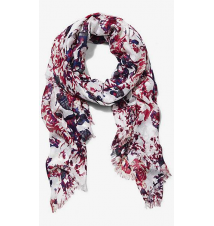 BRIGHT ROSE PRINT QUAD SCARF Express