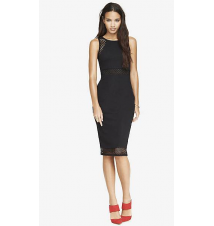 EXPLODED MESH INSET MIDI DRESS Express
