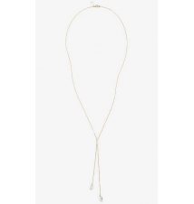 DROP STONE LARIAT NECKLACE Express