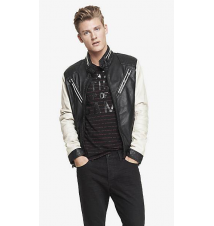 (MINUS THE) LEATHER VARSITY JACKET Express