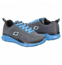 Skechers Kids' Equalizer Charcoal Mesh Blue T Famous Footwear