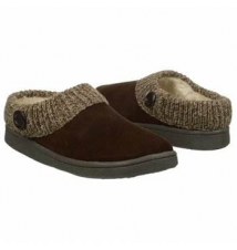Clarks Women's Button Sweater Clog Brown Famous Footwear