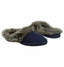 Dearfoams Women's Tab Micro Clog Peacoat Famous Footwear