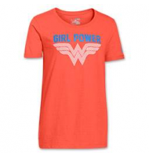 Girls' Under Armour Glow Wonder Woman T-Shirt Finish Line