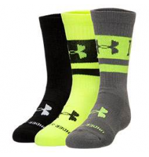 Kids' Under Armour I Will 3-Pack Crew Socks Finish Line