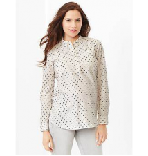 Fitted boyfriend dobby popover shirt Gap