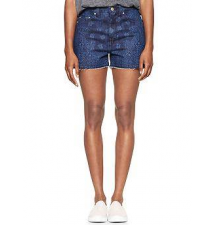1969 bandana raw-edge high-rise denim shorts Gap
