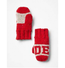 Intarsia statement mittens Gap