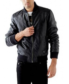 Garment-Washed Faux-Leather Bo..