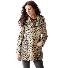 Drew Leopard-Print Coat Guess