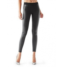 Mid-Rise Faux-Leather Panel Leggings Guess